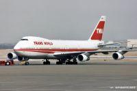 A TWA 747 at St. Louis