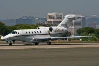 A NetJets Cessna Citation X business jet at Santa Monica  (Photo: Chris Jacobs - OPShots.net)