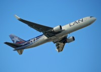 A LAN 767-300 departs Miami in 2010.  Photo: Ed Jones - OPShots.net