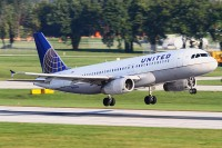This United A320 was recently painted into the new colors of the merging carriers.  Photo: Bernie Conaway - OPShots Contributor
