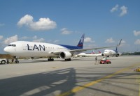 Two LAN aircraft are pictured at Atlanta in this 2009 file photo.  Photo: Andrew Thon - OPShots Contributor