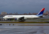A Delta Air Lines 767 lands at LaGuardia in 2005.  Photo: Chuck Slusarczyk Jr. - OPShots.net