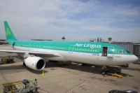 An Aer Lingus A330 gets serviced at Dulles this past May.  Photo:  Doug McElroy - OPShots Contributor