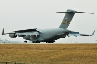A C-17 lands at CLE in 2010.  Photo:  Dave Reed - OPShots Contributor