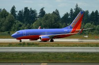 This is the actual aircraft involved in the incident pictured at KSEA in June 2011.  Photo:  Chuck Slusarczyk Jr. - OPShots.net //