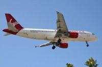 Virgin America flies Airbus products exclusively, such as this A320 at LAX. Photo: Chris Jacobs - OPShots Contributor //
