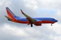 A Southwest 737 lands at Columbus, Ohio this past August.  Photo:  Micheal Wass - OPShots Contributor  //