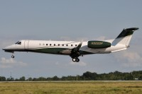 An Embraer Legacy landing at Cleveland in March 2009.  Photo:  Angelo Ballachino - OPShots Contributor //