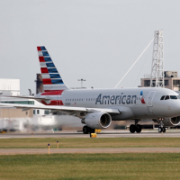 American Airlines' brand new sharklet equipped A319′s departs Runway 24L at Cleveland Hopkins in October. Photo: E. Jones – OPShots Contributor //