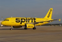 Spirit's new taxi like livery seen at Hartsfield–Jackson Atlanta International Airport. Photo: Andrew Thon – OPShots Contributor //