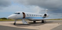 Air Lease Corp's G650 seen at Grand Cayman. Photo: Cole Goldberg  – OPShots.net//